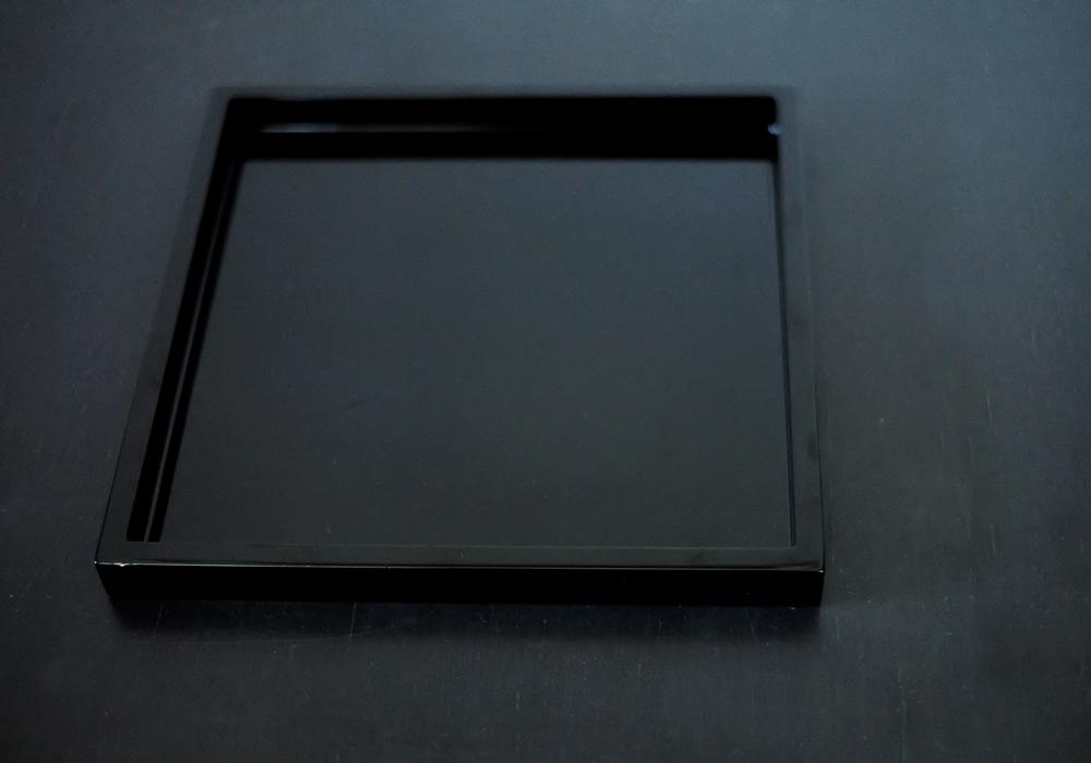 漆器 正角トレー(黒)