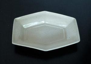 陶器 六角皿  安斎新・厚子さん